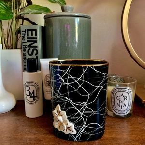 Other - Antique Black & White Container / Vase